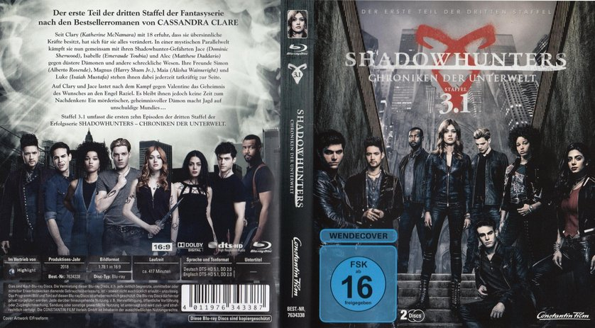 Shadowhunters Staffel 3 Dvd