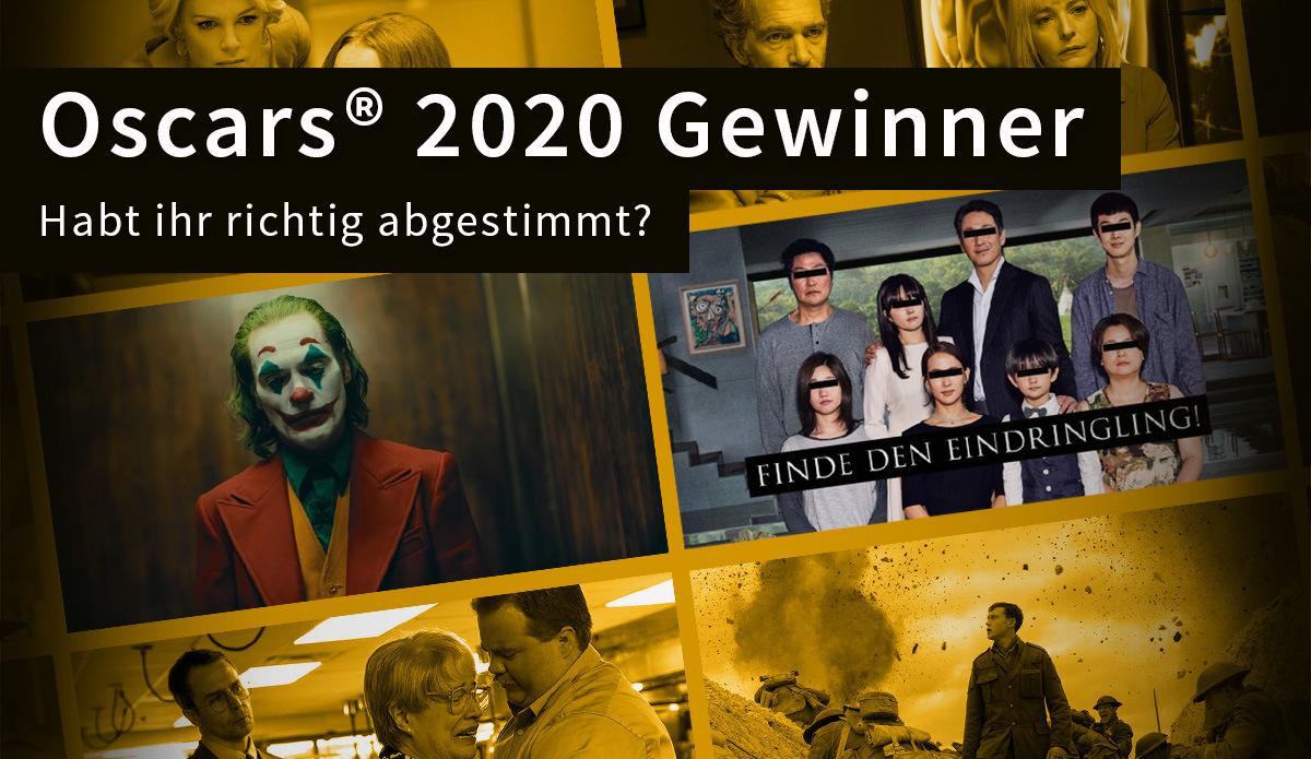 Oscar-Gewinner 2020: Die Ergebnisse: Abstimmung + Oscar-Gewinner 2020