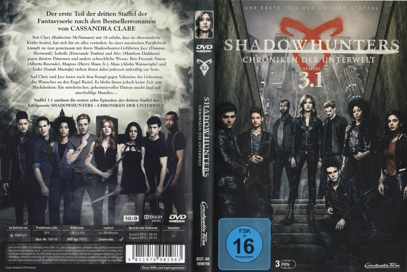 Shadowhunters Staffel 3 Dvd