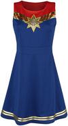 Captain Marvel Captain Marvel Star Kurzes Kleid blau rot powered by EMP (Kurzes Kleid)