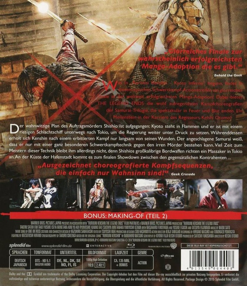 The Legend Ends: DVD Oder Blu-ray