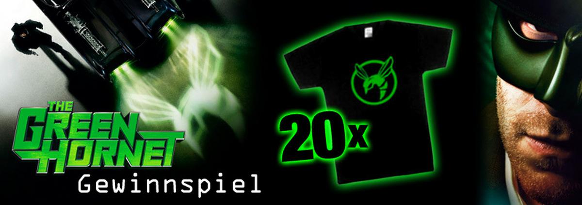 Green Hornet Gewinnspiel: Die Grüne Hornisse sticht zu: Super Shirts zum Superhelden!