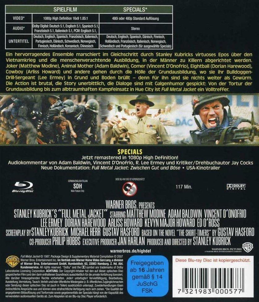 Full Metal Jacket Dvd Blu Ray Oder Vod Leihen Videobusterde