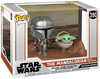 Star Wars The Mandalorian - The Mandalorian with The Child (Movie Moments) Vinyl Figur 390 powered by EMP (Funko Movie Moments)