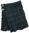 Black Premium by EMP Kilt Mittellanger Rock grün blau powered by EMP (Mittellanger Rock)