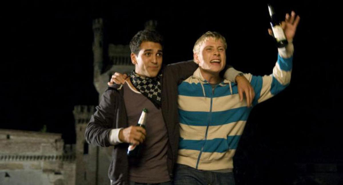 Elyas M'Bareks und Max Riemelt in 'Die Welle' 2008 © Constantin Film