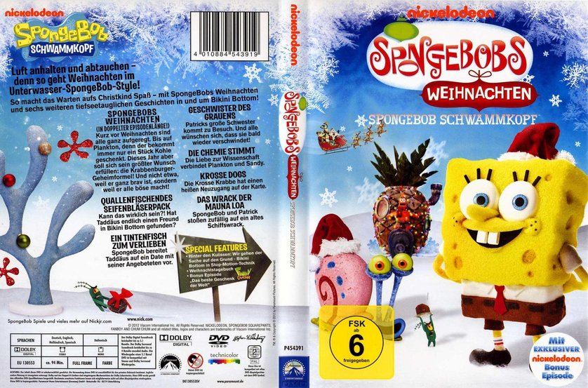 spongebob schwammkopf weihnachten dvd oder blu ray. Black Bedroom Furniture Sets. Home Design Ideas