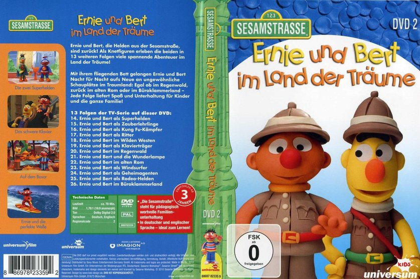 ernie und bert im land der tr ume dvd oder blu ray leihen. Black Bedroom Furniture Sets. Home Design Ideas