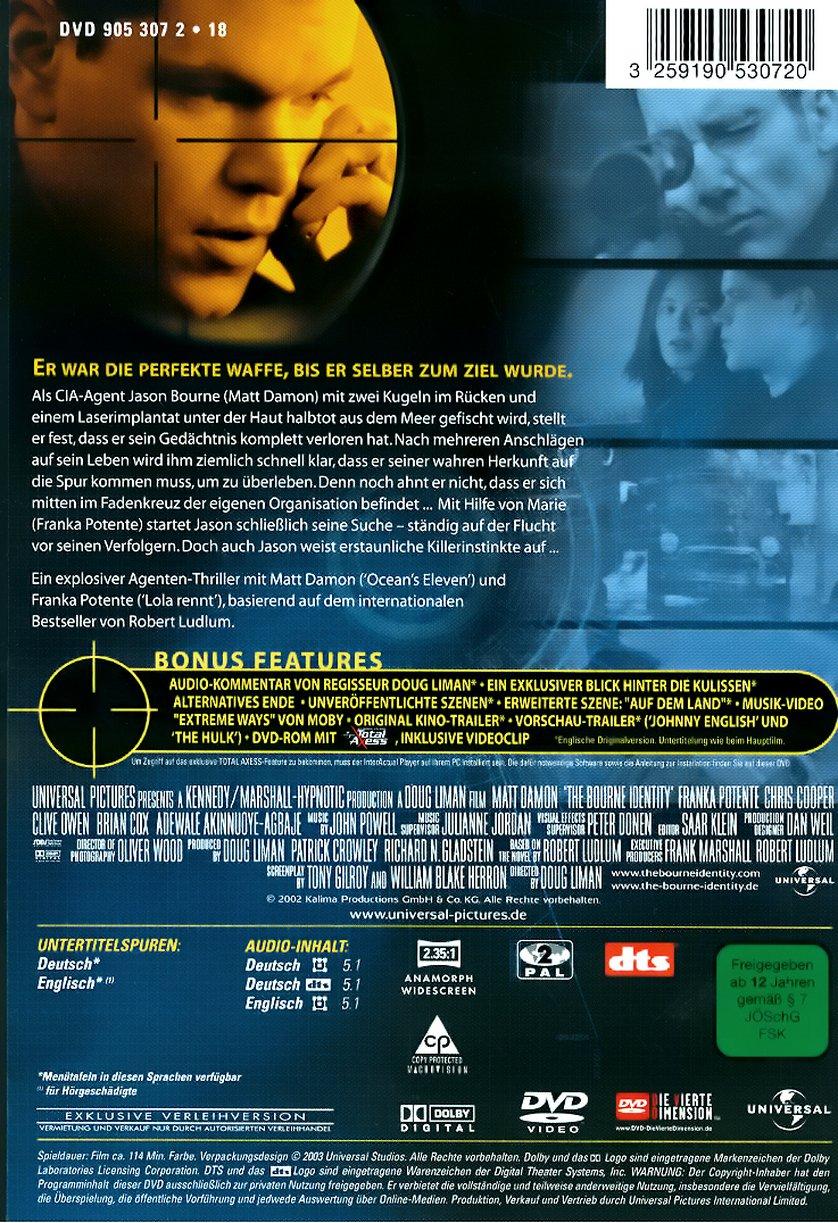 Die Bourne Identität: DVD oder Blu-ray leihen - VIDEOBUSTER.de