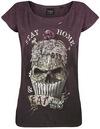 Alchemy England Stay Home T-Shirt bordeaux schwarz powered by EMP (T-Shirt)