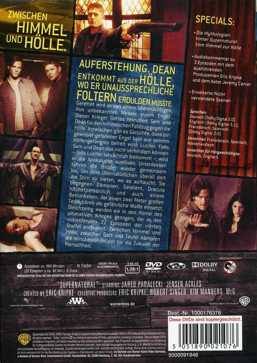 supernatural staffel 8 deutsch