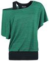 Black Premium by EMP When The Heart Rules The Mind T-Shirt grün schwarz powered by EMP