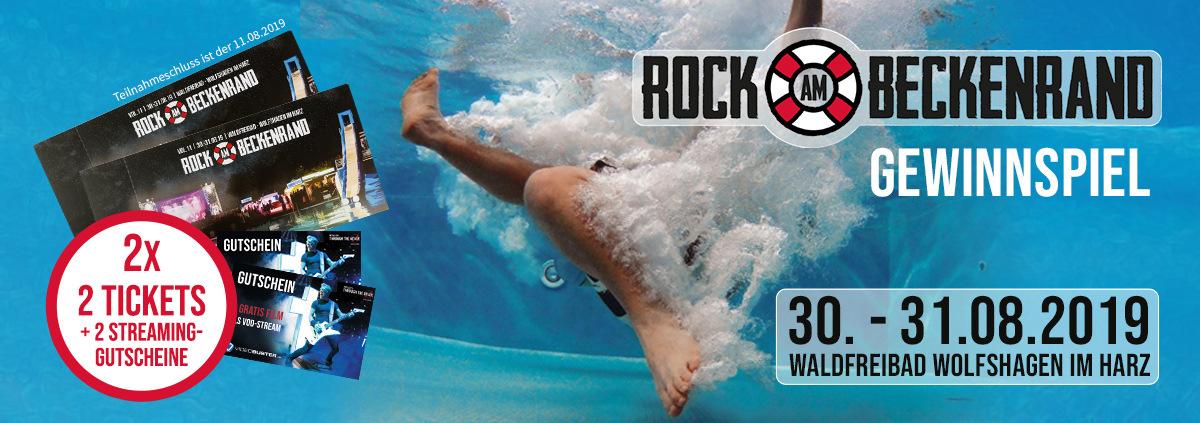 ROCK AM BECKENRAND Gewinnspiel: Gewinnen und eintauchen! RaB Festival 2019