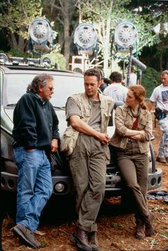 Von links: Spielberg, Vaughn, Julianne Moore.