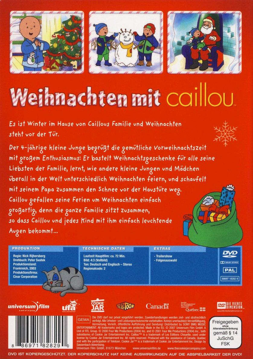 weihnachten mit caillou dvd oder blu ray leihen