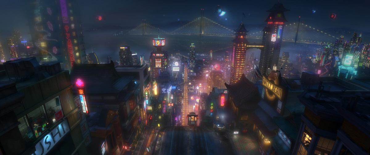 Auf nach San Fransokyo! (Pressematerial ' Baymax - Riesiges Robowabohu ' © Walt Disney Studios)