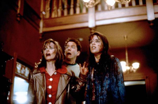 Courteney Cox, Jamie Kennedy und Neve Campbell in 'Scream - Schrei!' © Kinowelt 1996