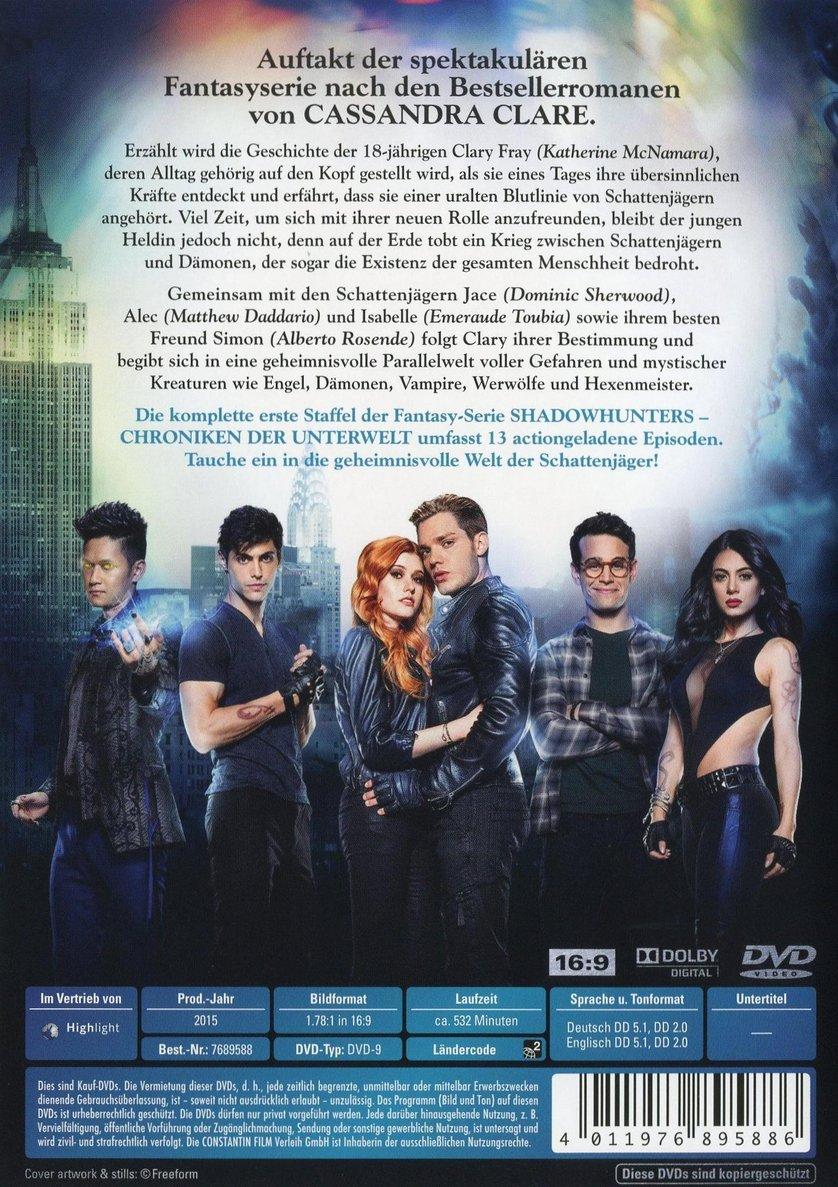 shadowhunters staffel 2 dvd