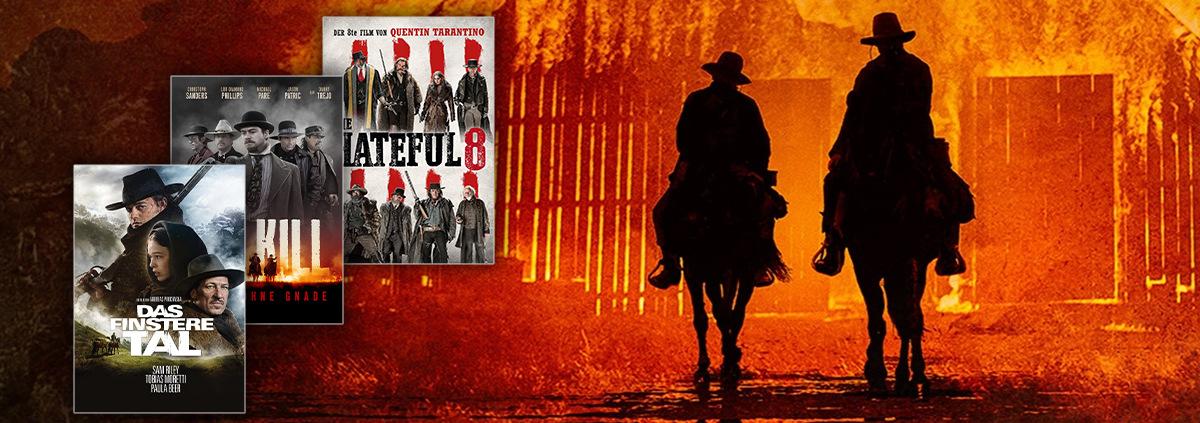 Die besten VoD Western streamen: Western VoD Filme: Reite dem Sonnenuntergang entgegen!