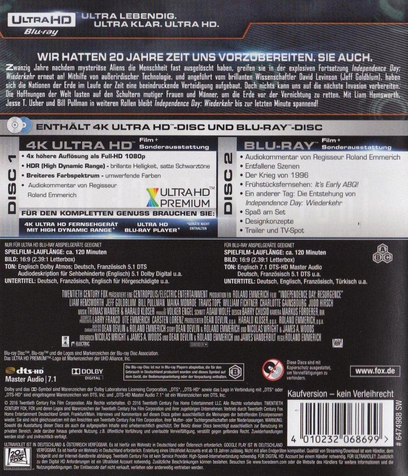 Independence Day 2 - Wiederkehr: DVD oder Blu-ray leihen ...