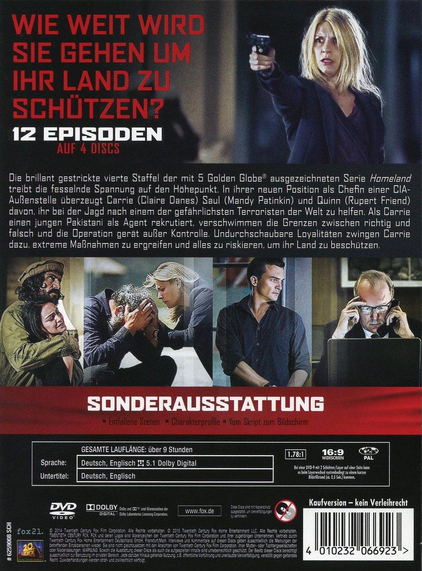 Homeland Staffel 4 Dvd Oder Blu Ray Leihen Videobusterde