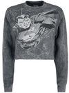 Superman Flying Crush Sweatshirt schwarz grau powered by EMP
