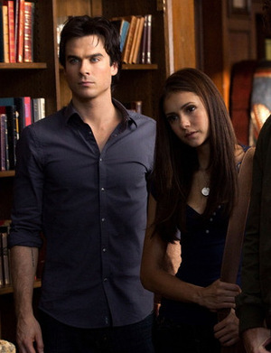 Ian Somerhalder und Nina Dobrev 'Vampire Diaries' © Warner 2009