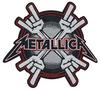 Metallica Metal Horns Patch schwarz rot weiß powered by EMP (Patch)