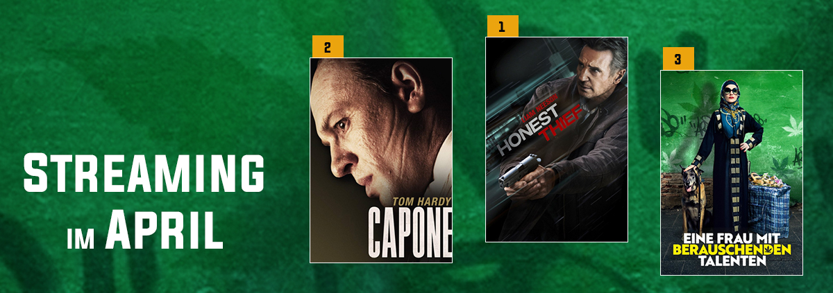 Stream-Charts 04-2021: Streaming Hits: Neeson Film bildet neue Nr. 1 im April!