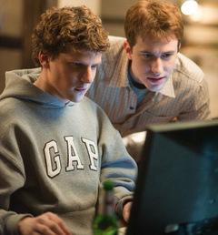 2010: Jesse Eisenberg am PC