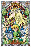 The Legend Of Zelda Stained Glass powered by EMP (Poster)