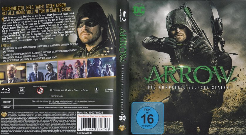Arrow Staffel 6 Dvd