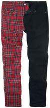 Banned Alternative Split Pants Stoffhose rot schwarz powered by EMP (Stoffhose)