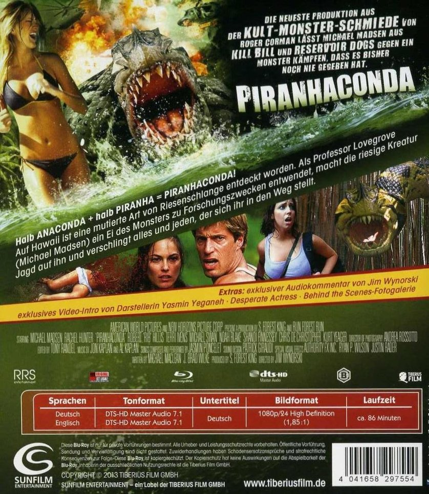 Piranhaconda Dvd