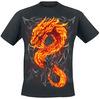 Spiral Fire Dragon powered by EMP (T-Shirt)