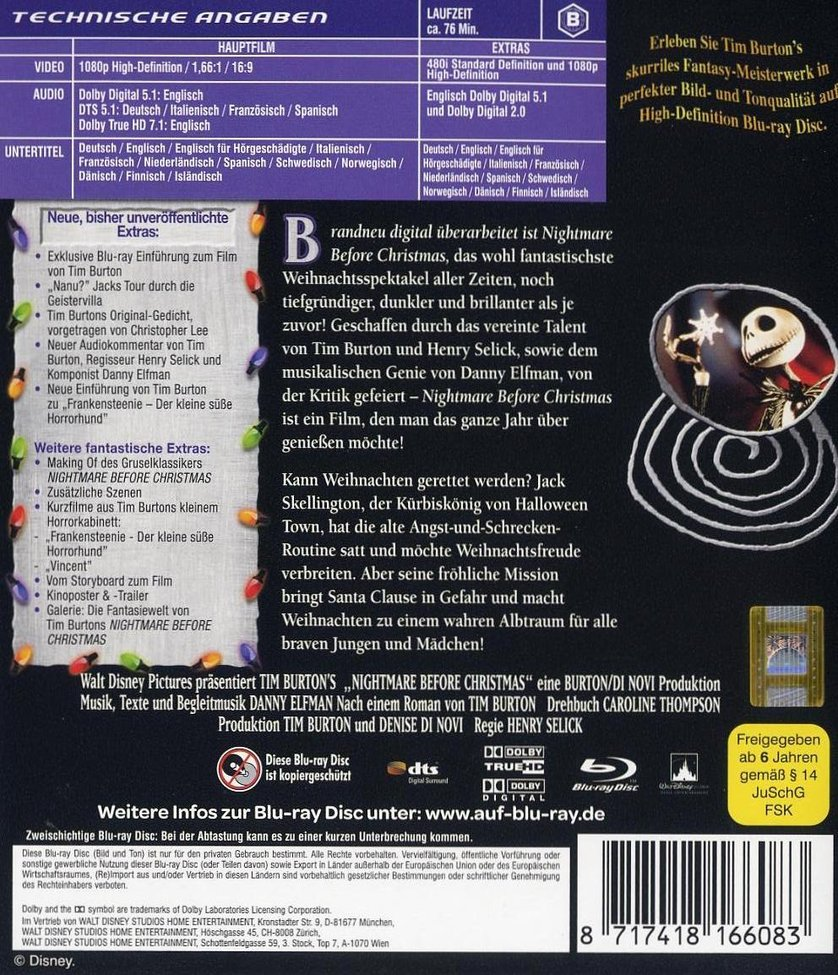 Nightmare Before Christmas: DVD oder Blu-ray leihen - VIDEOBUSTER.de