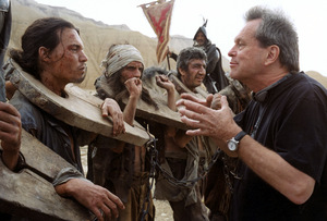 Gilliam am Set mit Johnny Depp
