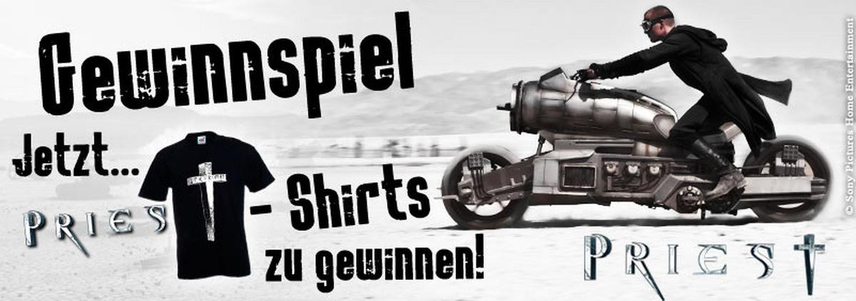 Priest Gewinnspiel: Nachtschwarze Film-Shirts bis zum Sommerzeitende!