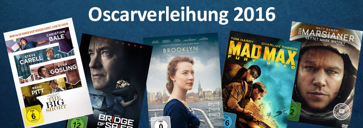 Oscars 2016: Die Filme und Stars der Oscar-Verleihung 2016