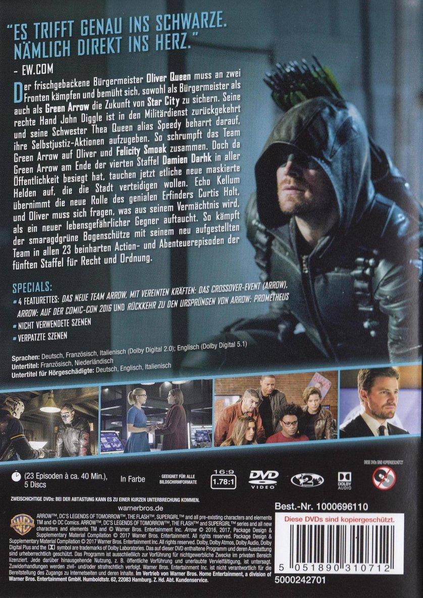 Arrow Staffel 5 Start In Deutschland