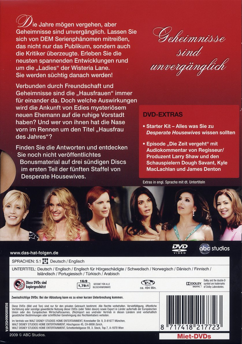 desperate housewives staffel 5 dvd oder blu ray leihen. Black Bedroom Furniture Sets. Home Design Ideas