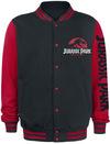 Jurassic Park Classic Logo Collegejacke schwarz rot powered by EMP (Collegejacke)