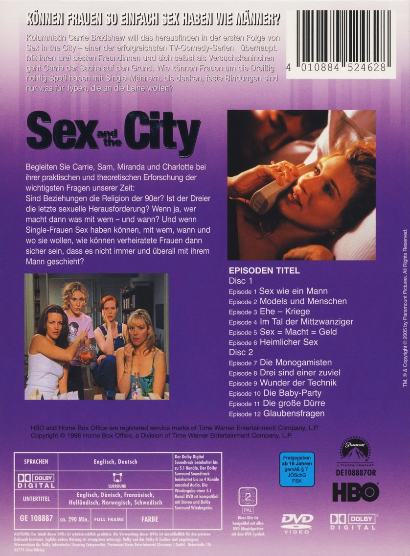 Sex and the city dvd extras