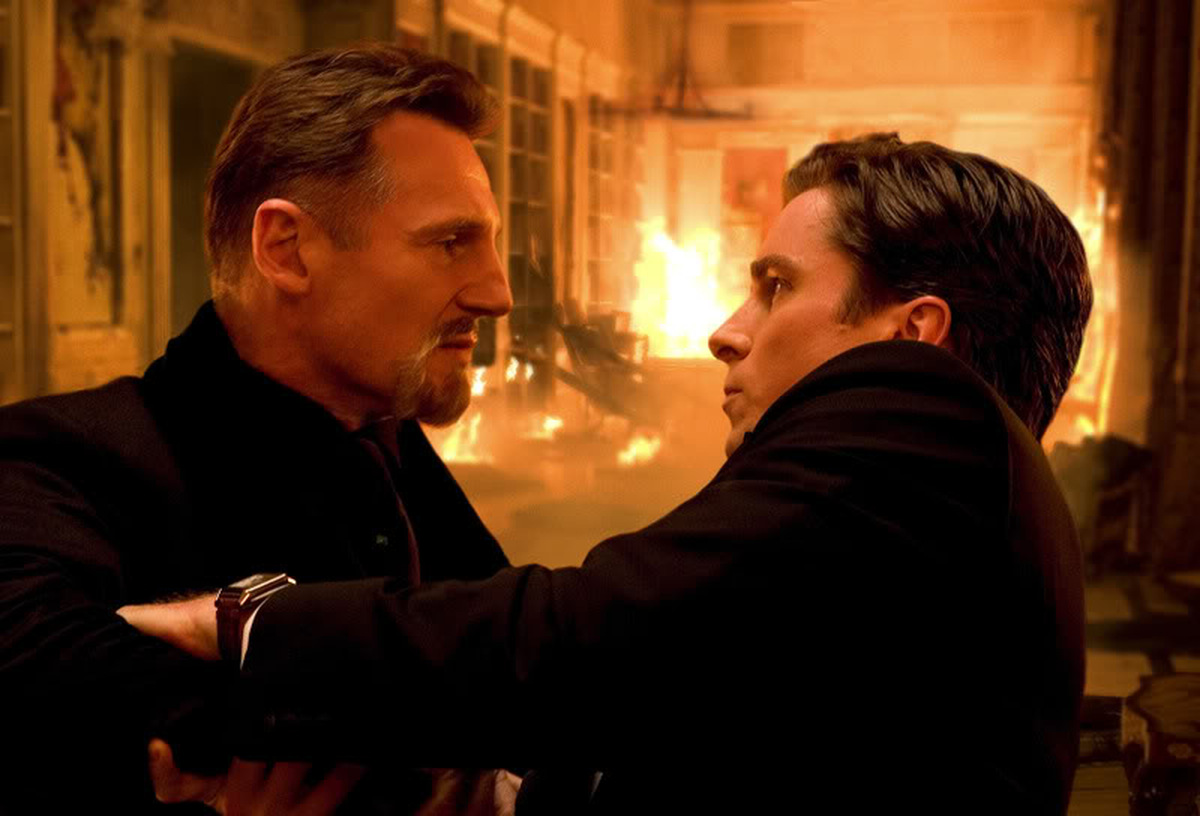 Liam Neeson und Christian Bale in 'Batman - The Dark Knight Rises' © Warner Home Video 2012