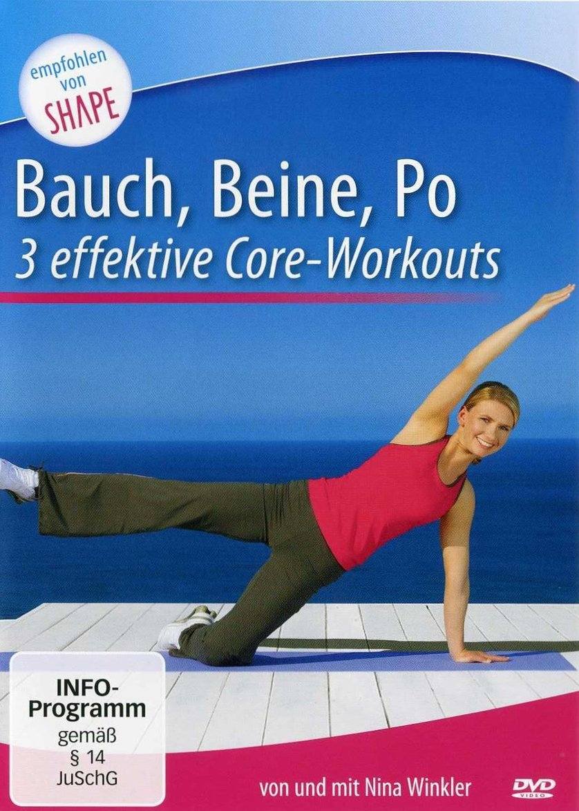 bauch beine po 3 intensive core workouts dvd oder blu ray leihen. Black Bedroom Furniture Sets. Home Design Ideas