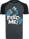 Sesamstraße Krümelmonster - Feed Me! T-Shirt grau meliert schwarz powered by EMP (T-Shirt)