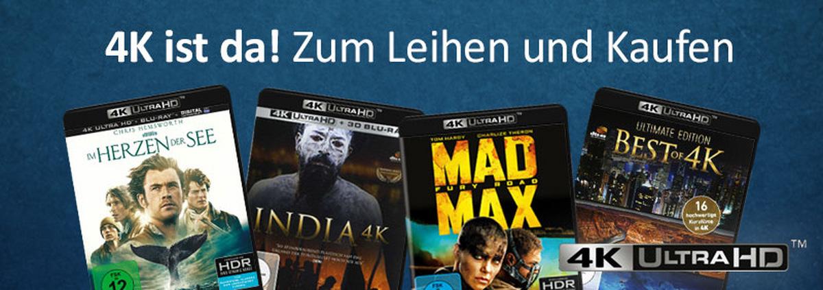 4K Blu-ray: Neu bei VIDEOBUSTER: 4K ist da!