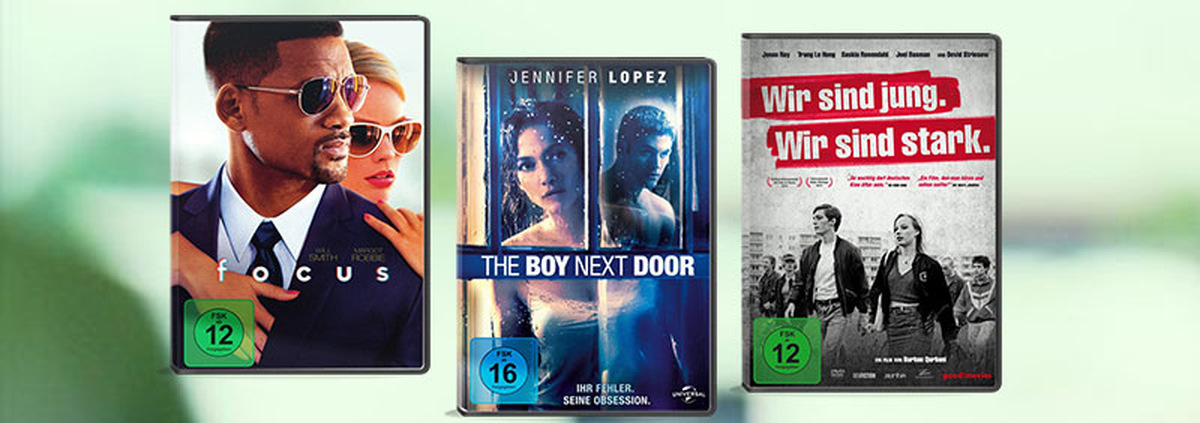 Top 3 im Verleih: Focus, The Boy Next Door & Wir sind jung.