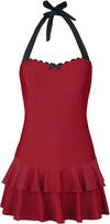 Pussy Deluxe Red Lovers Swimsuit Badekleid rot schwarz powered by EMP (Badekleid)