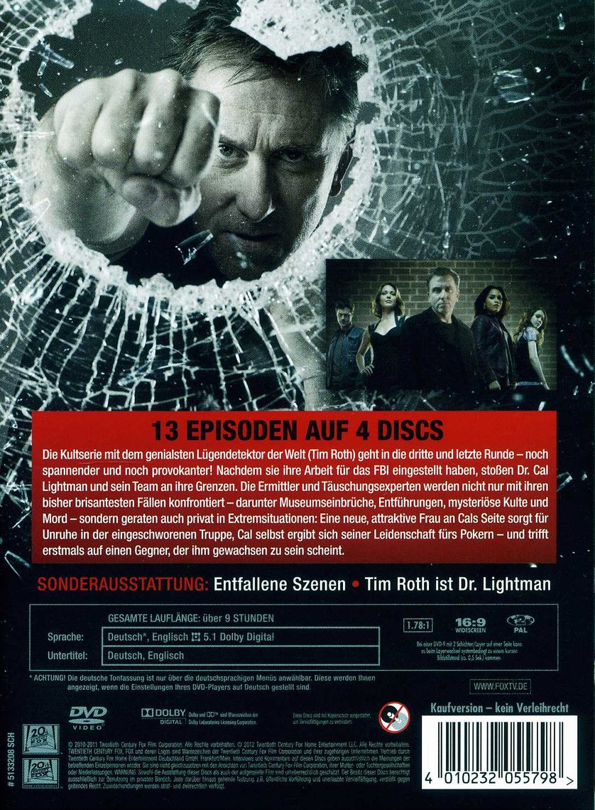 Lie To Me Staffel 3 Dvd Oder Blu Ray Leihen Videobusterde